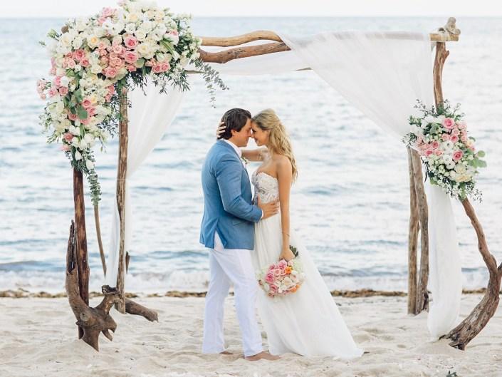 Beach Wedding in Akumal, Riviera Maya