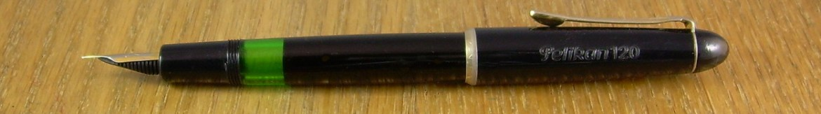 Pelikan 120, Merz & Krell production.  You could have it in any colour you wanted, as long as it was this or green.