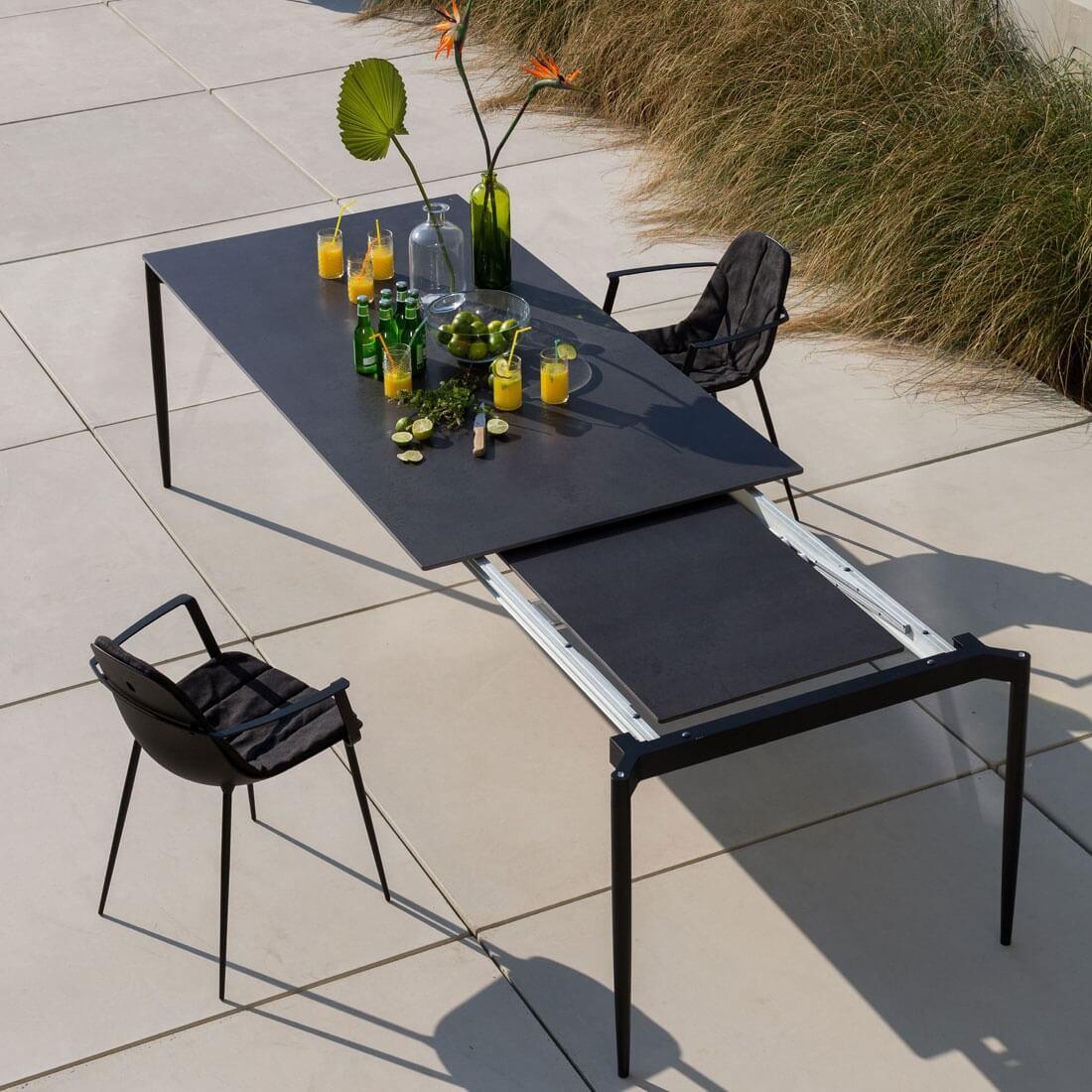 marguerite table extensible 160 a 220 cm en xeramica de joli