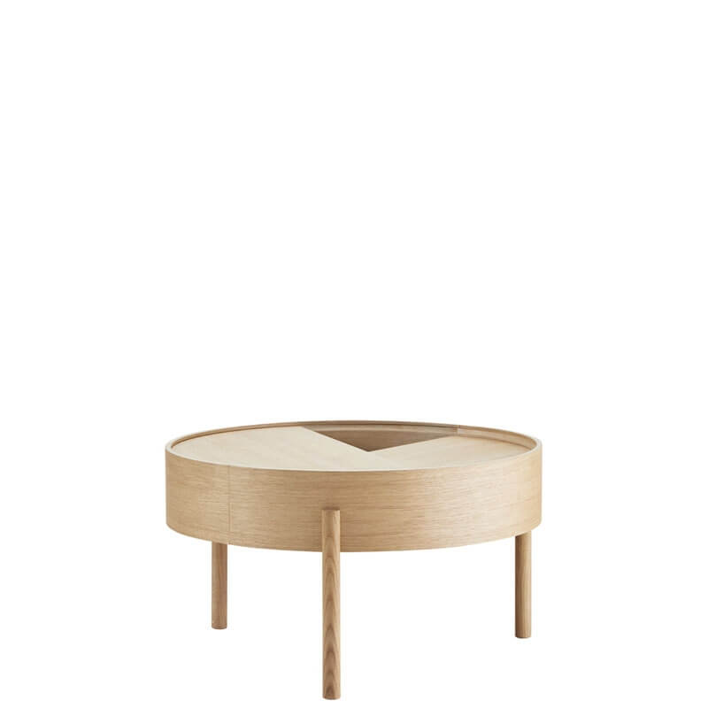 arc table basse plateau rotatif o 66 cm de woud