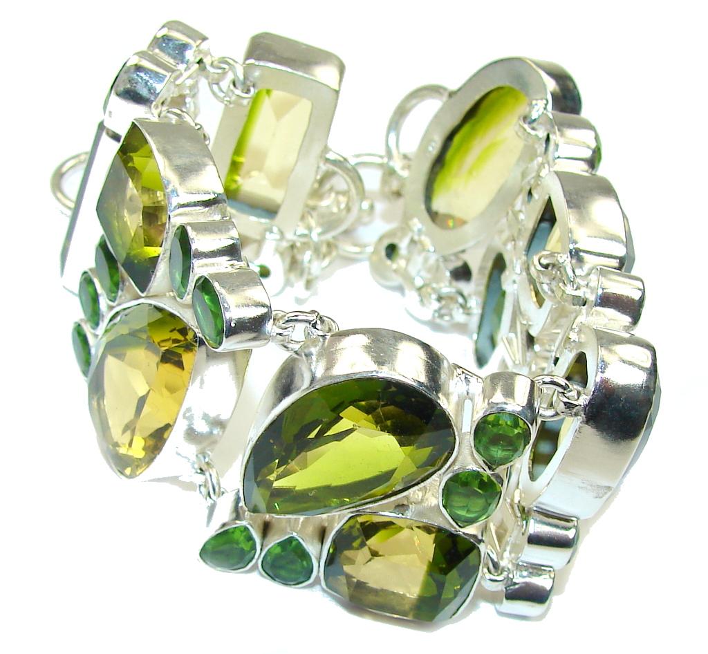 Aura Of Beauty! Color Changing Quartz Sterling Silver Bracelet
