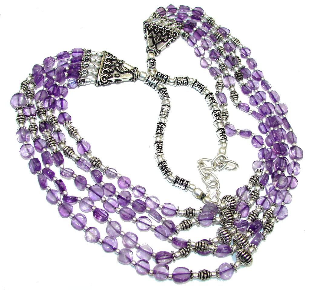 Lavender Dream! Purple Amethyst Sterling Silver Necklace