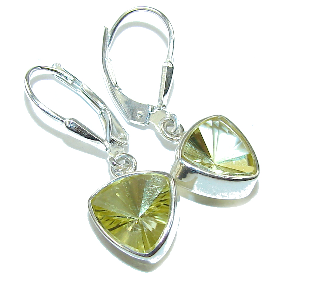 Delicate Yellow Magic Topaz Sterling Silver earrings