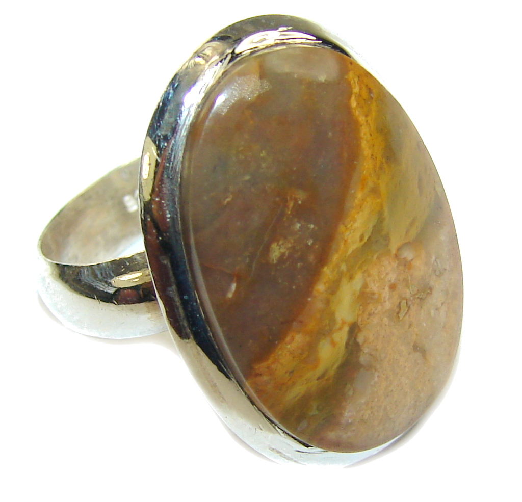 Simplicity Montana Agate Sterling Silver ring; s. 8