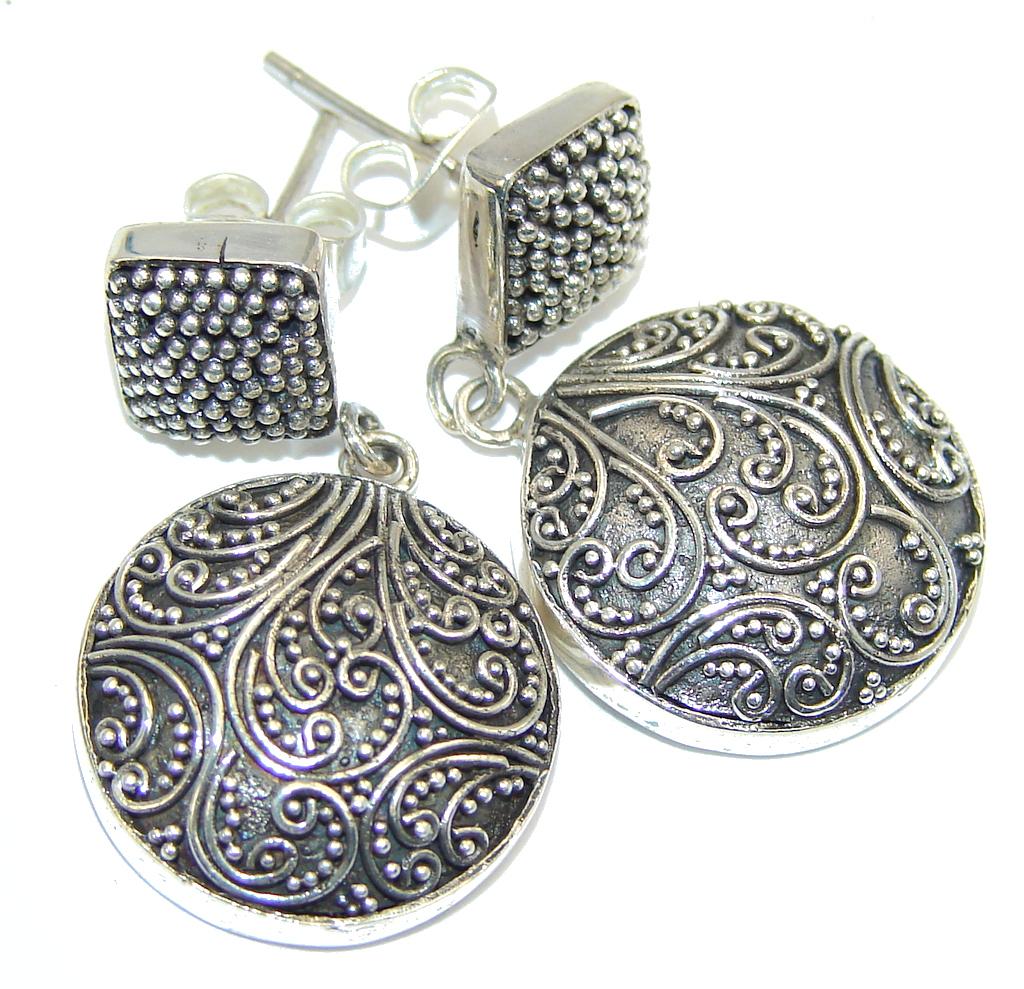 Bali Secret Handcrafted Sterling Silver earrings