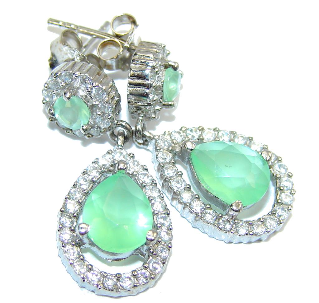 Fresh Apatite & White Topaz Sterling Silver earrings
