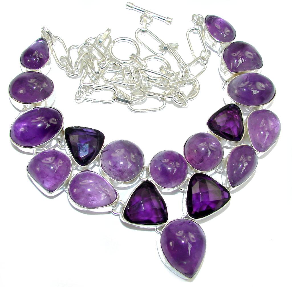 Lavender Dream AAA Purple Amethyst Sterling Silver Necklace