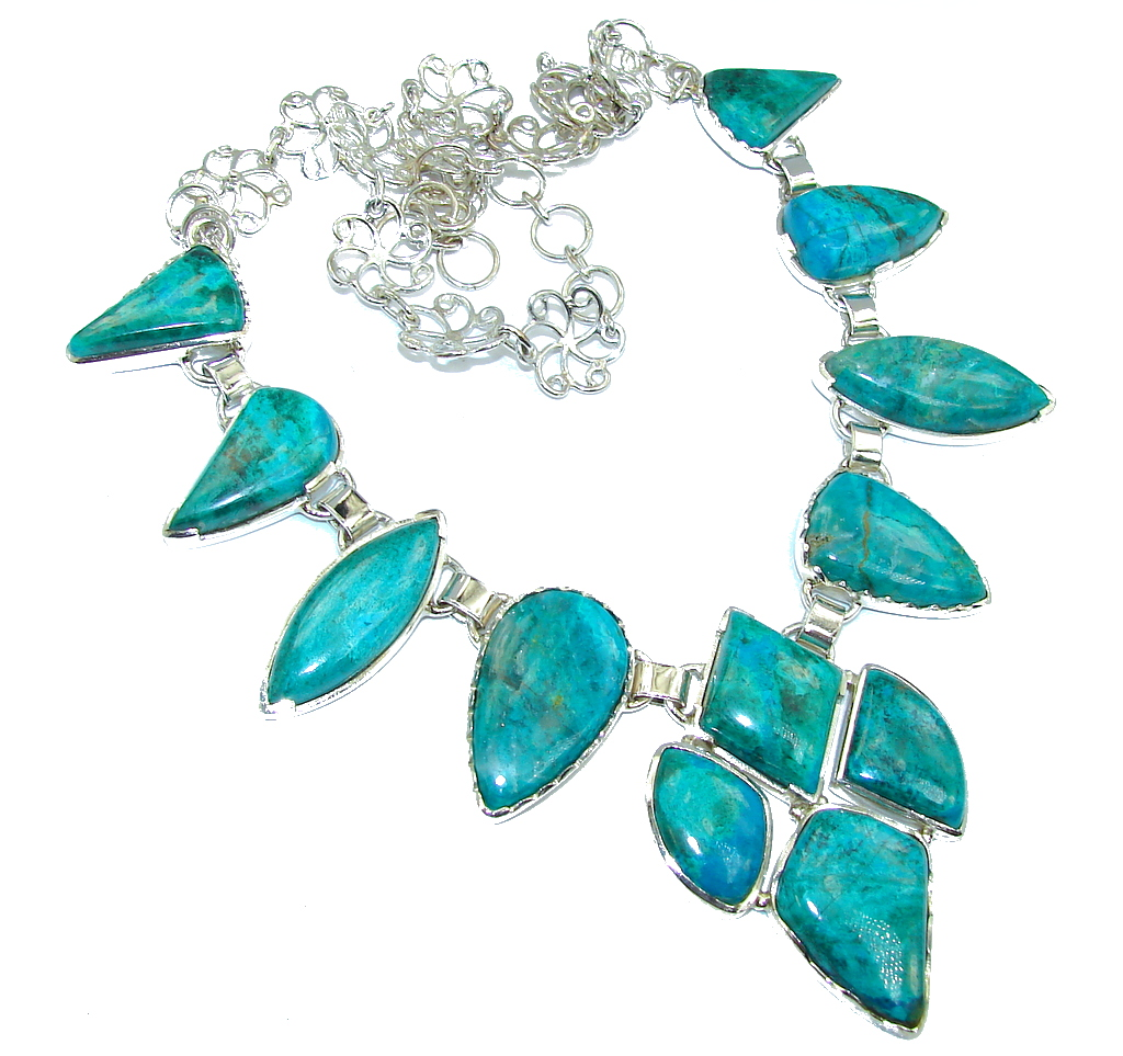 Sky Garland Parrot's Wings Chrysocolla Sterling Silver Necklace