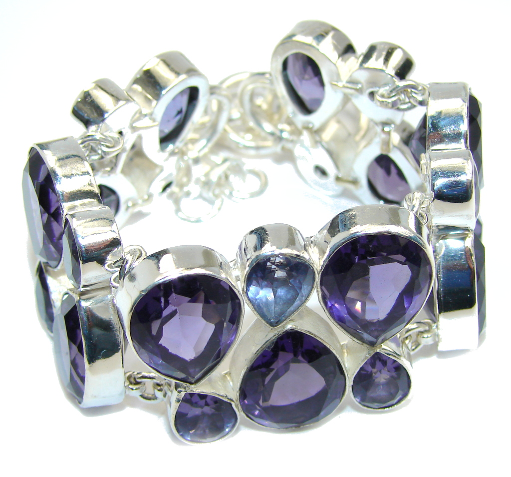 Real Treasure created Amethyst Sterling Silver Bracelet