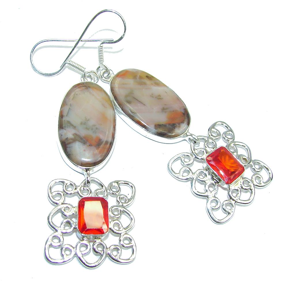 Sublime Brown Agate Sterling Silver earrings
