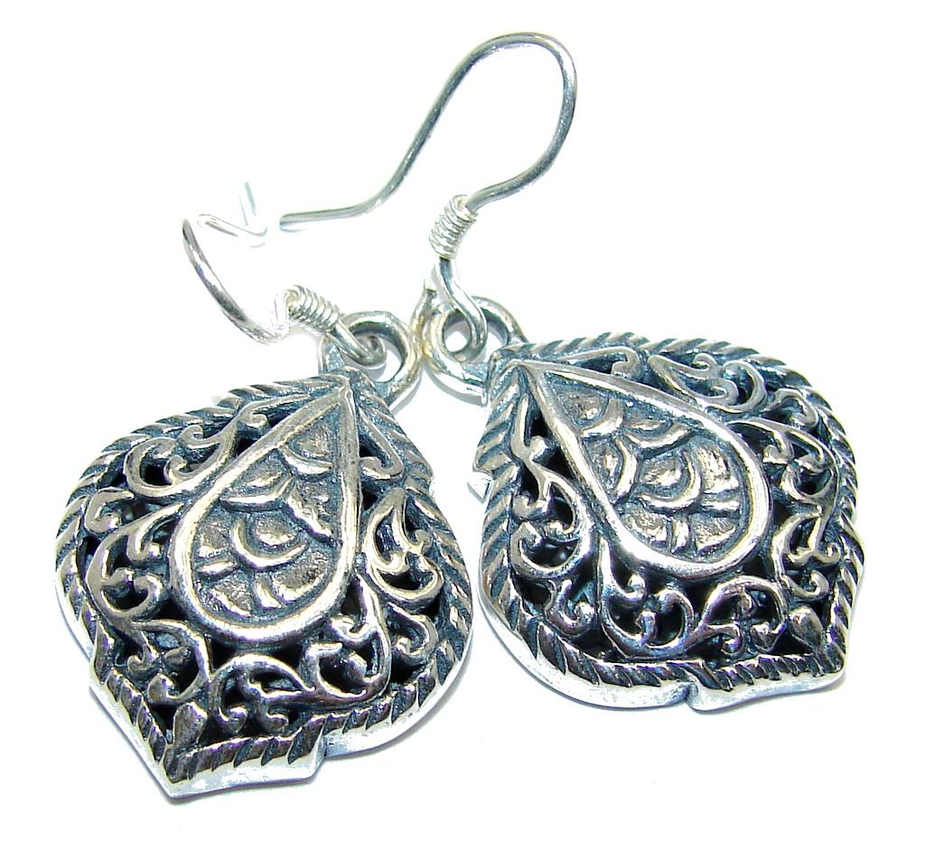 Beautiful Bali Treasure Oxidized Sterling Silver earrings