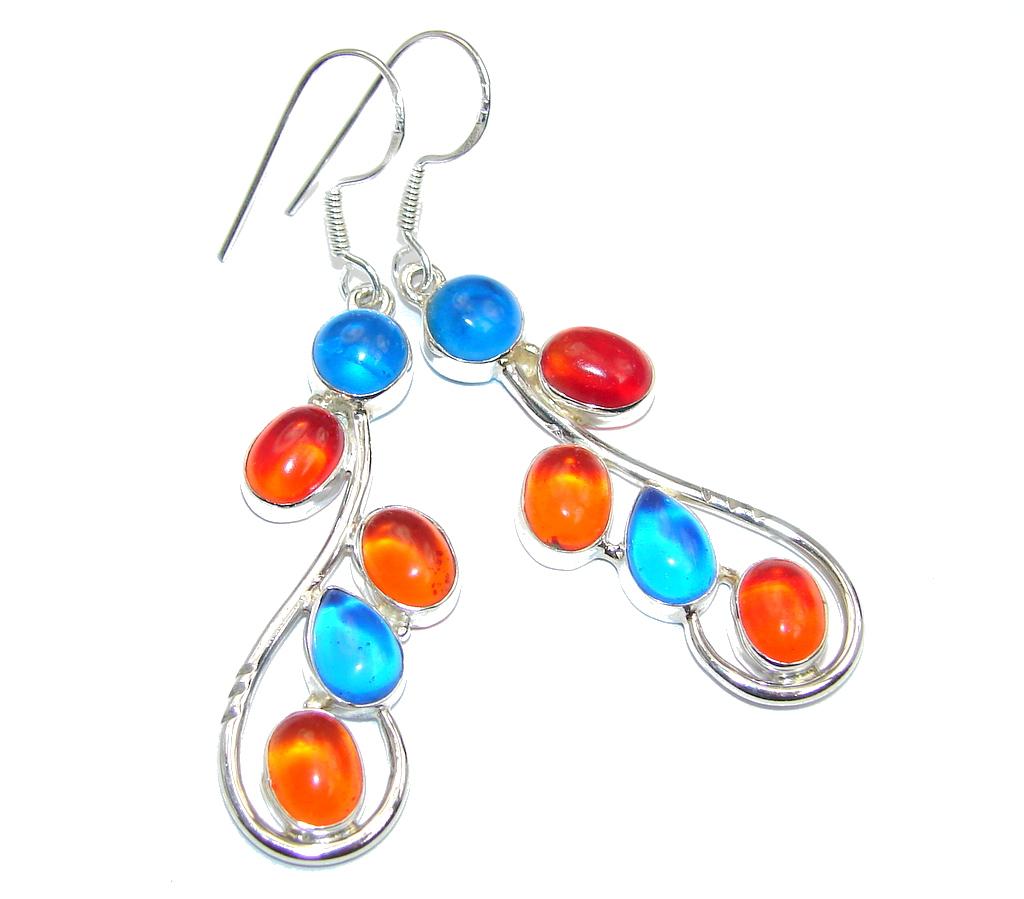 Great Multicolor Quartz Sterling Silver earrings