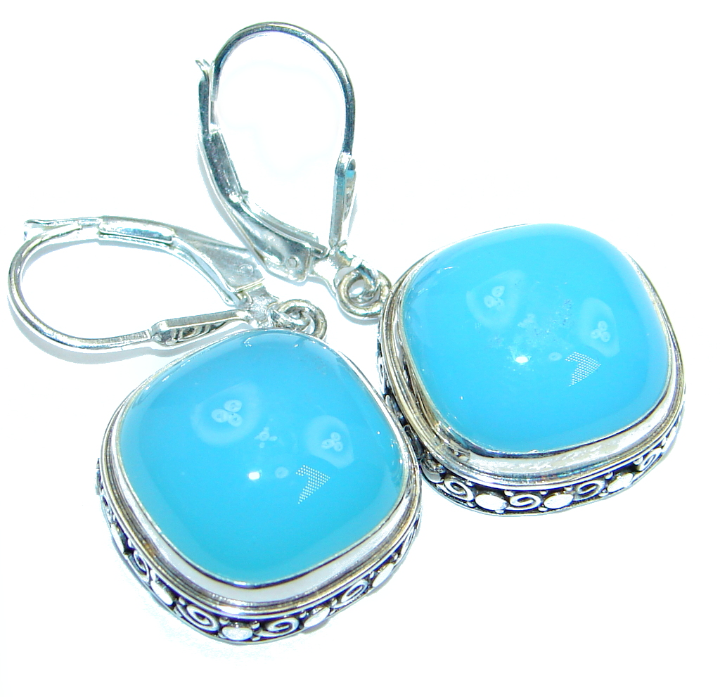 Chunky Botswana Agate Sterling Silver earrings