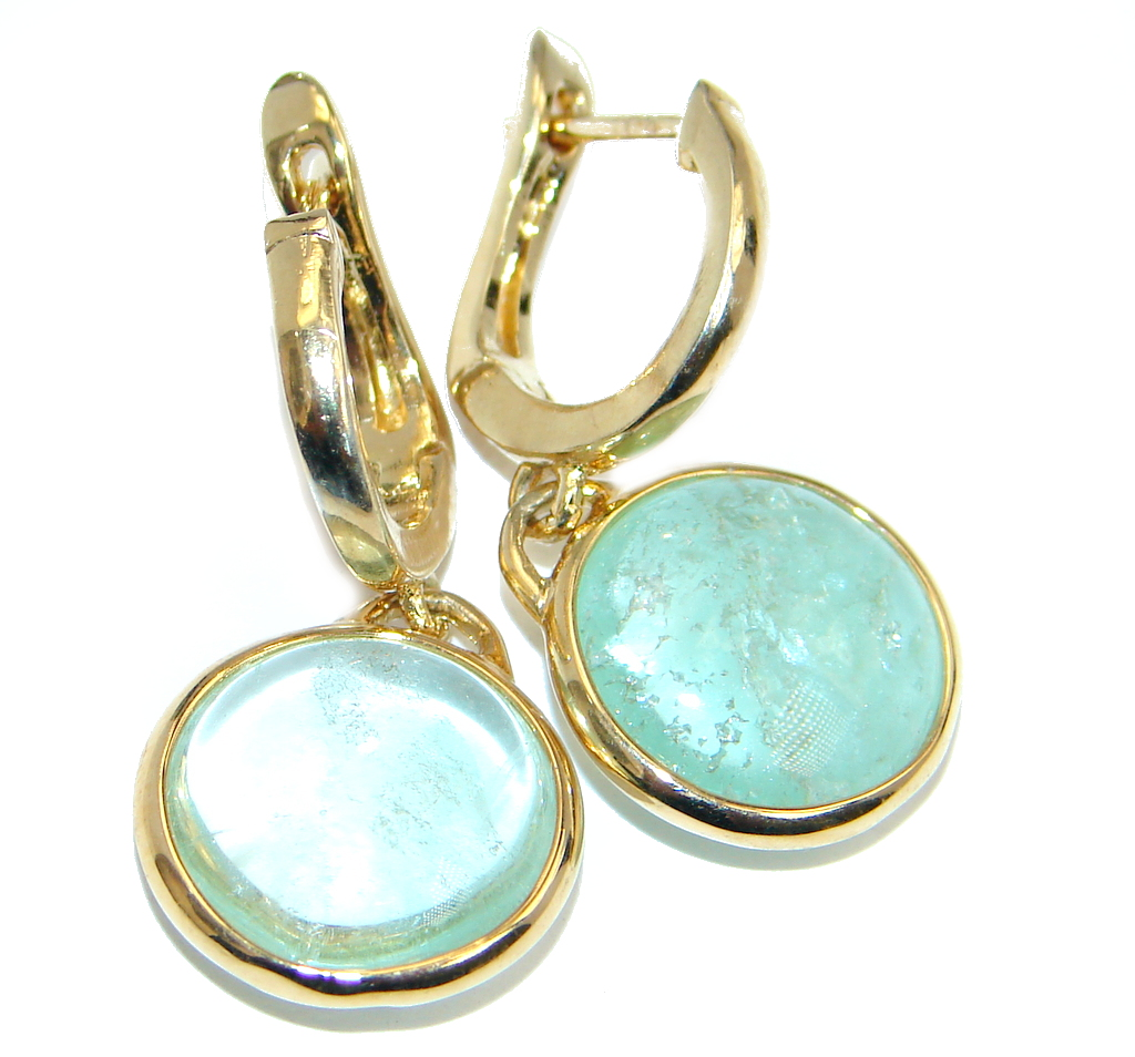 Fresh Apatite Gold plated over Sterling Silver earrings