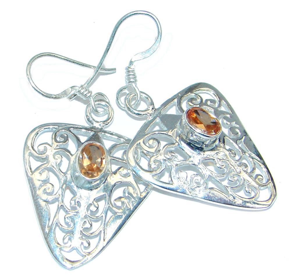 Great Citrine Sterling Silver handmade earrings