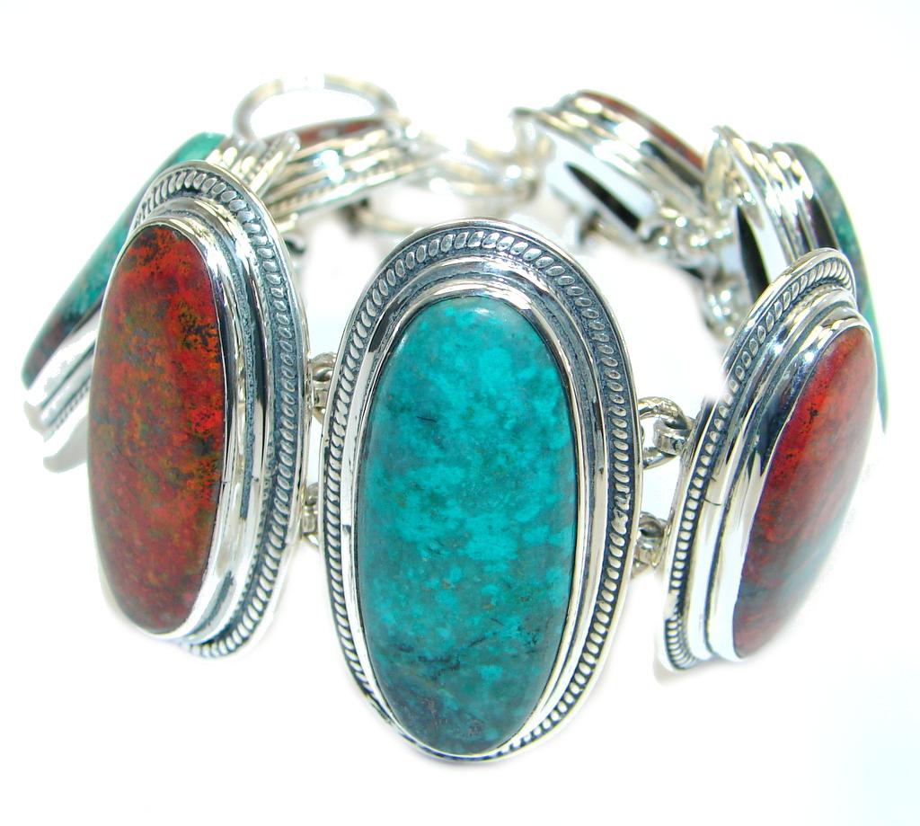 Chunky Natural Beauty Sonora Jasper Sterling Silver handmade Bracelet