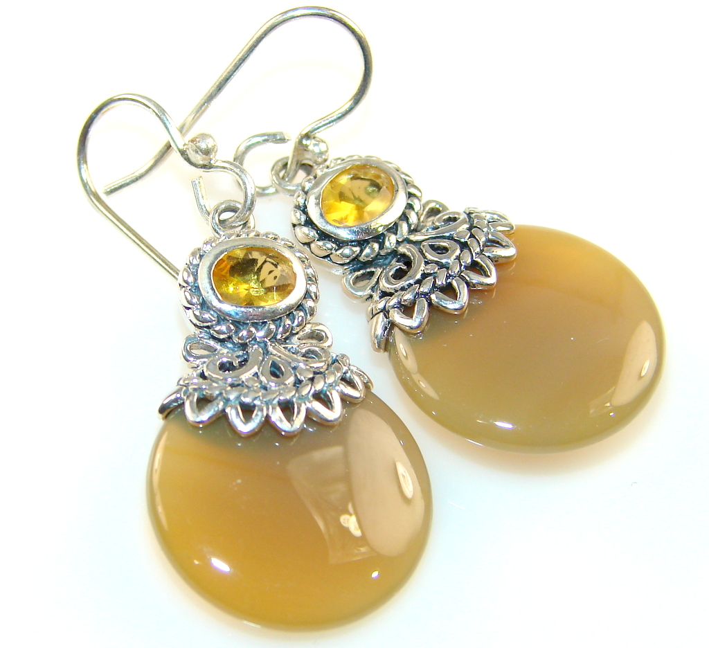Beautiful Sweet Calcite Sterling Silver earrings