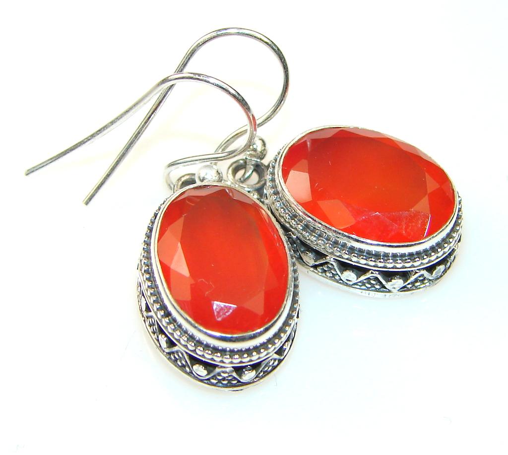 Beautiful Carnelian Sterling Silver earrings
