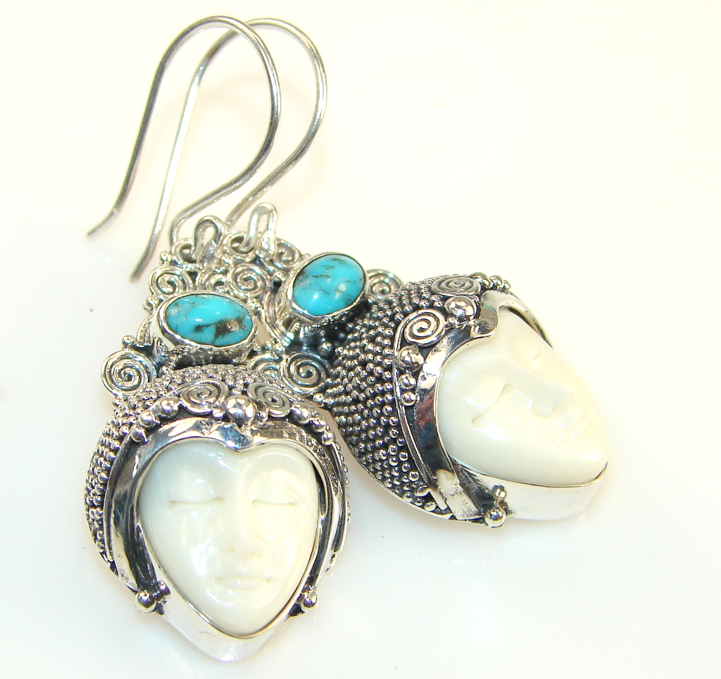 Forest Breeze Turquoise Sterling Silver earrings