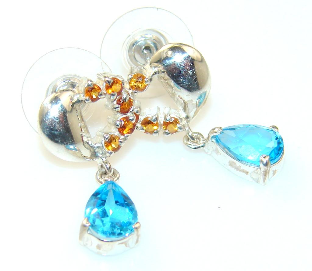 Forever Blue Topaz Sterling Silver earrings