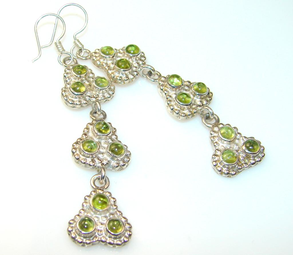 Azure Fruite Green Quartz Sterling Silver earrings
