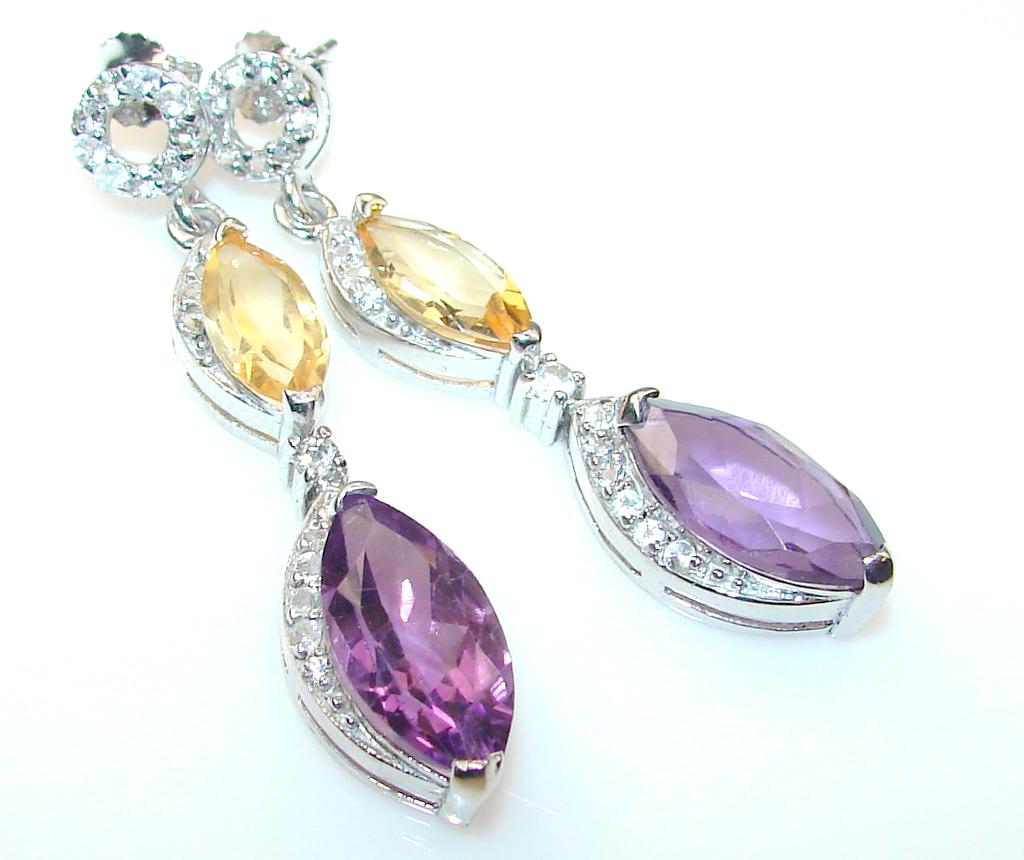 Grown Jewel Amethyst Sterling Silver earrings