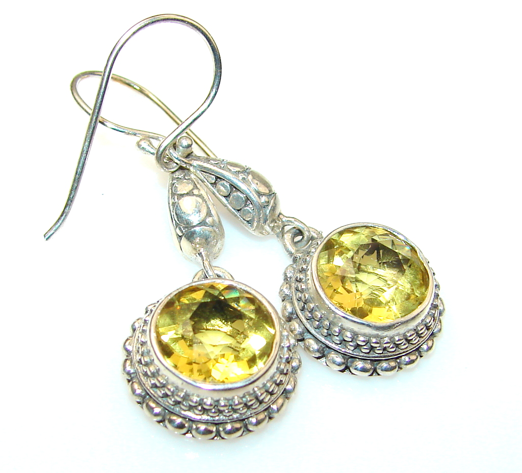 Bright Side Citrine Sterling Silver Earrings