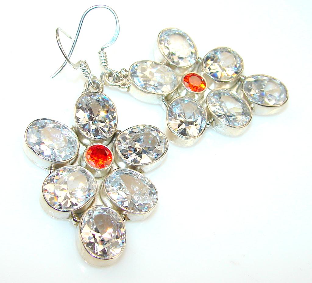 Empress White Topaz Sterling Silver earrings