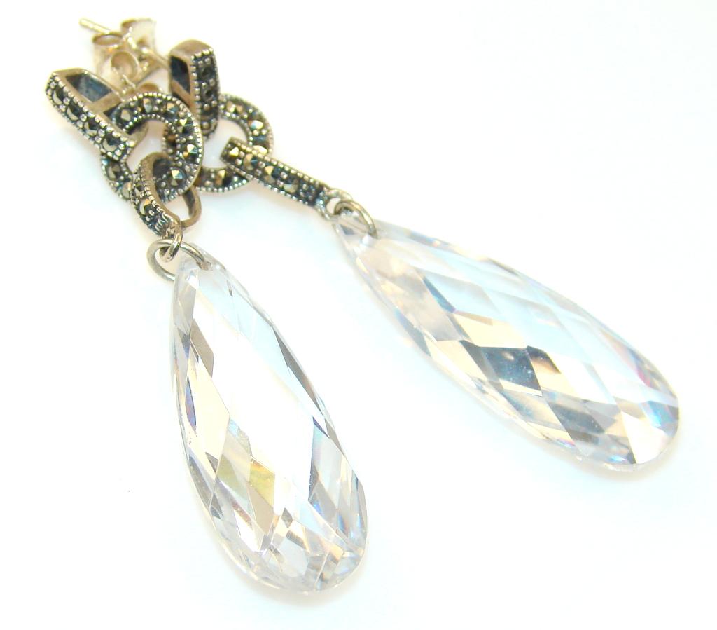 Impression White Topaz Sterling Silver earrings