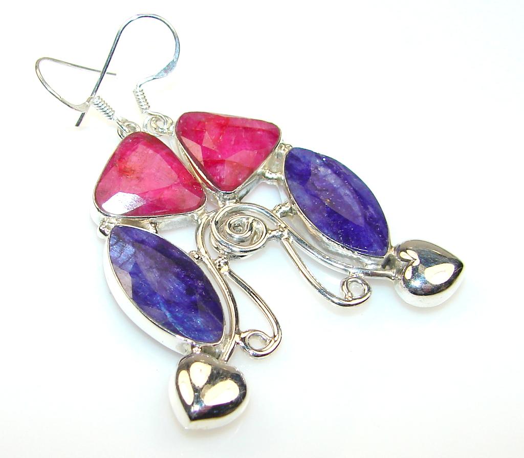 Forever Blue Sapphire Sterling Silver earrings