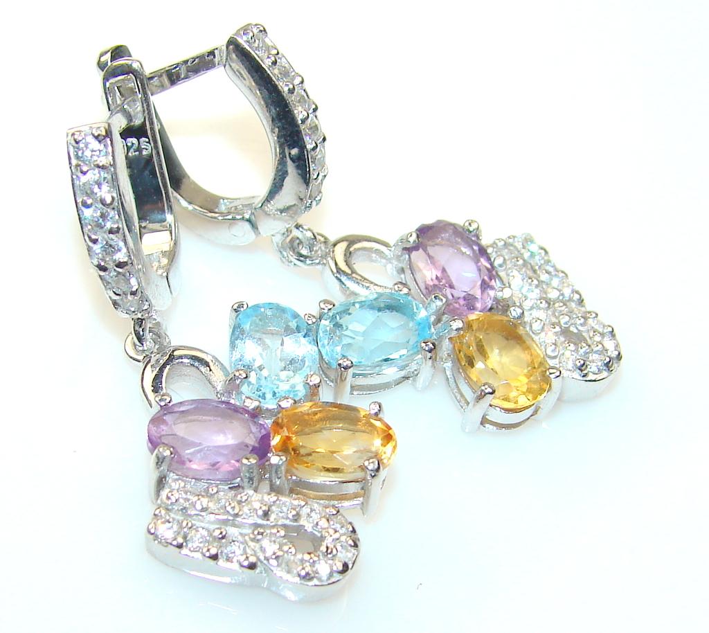 Azure Fruit Multistone Sterling Silver earrings