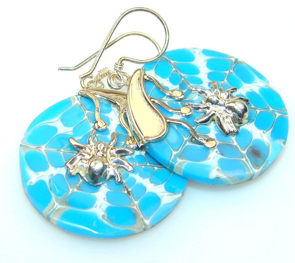 Impression Shell Sterling Silver earrings