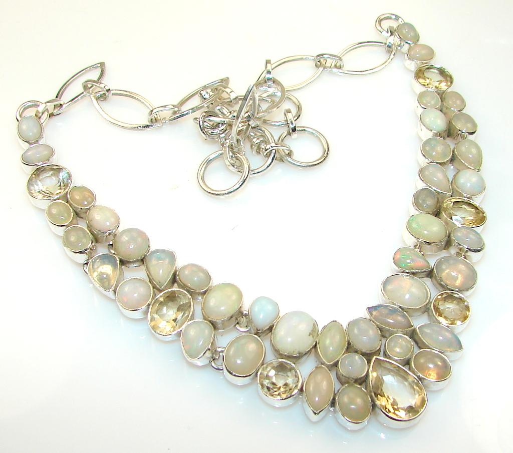 Weaving Light Citrine Sterling Silver necklace