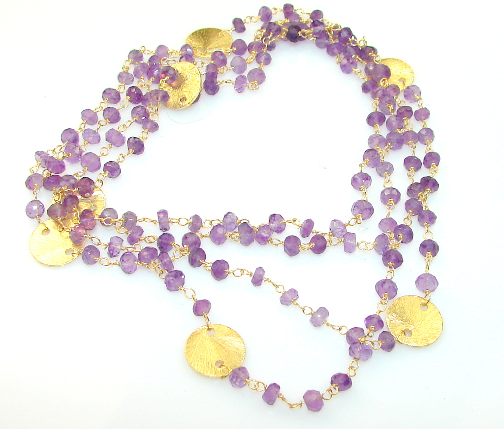 Remembrance Amethyst Sterling Silver Necklace