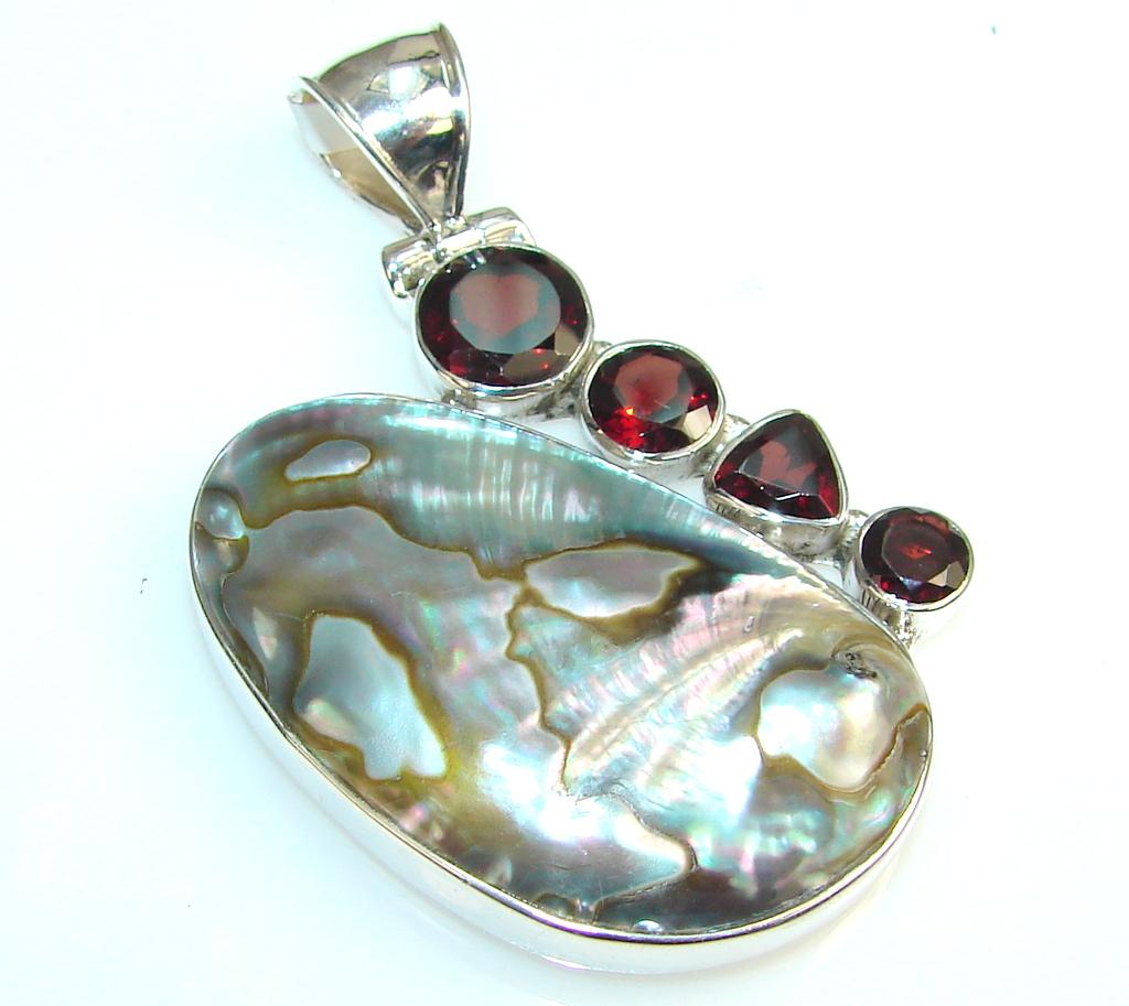 Magic Rainbow Abalone Sterling Silver Pendant