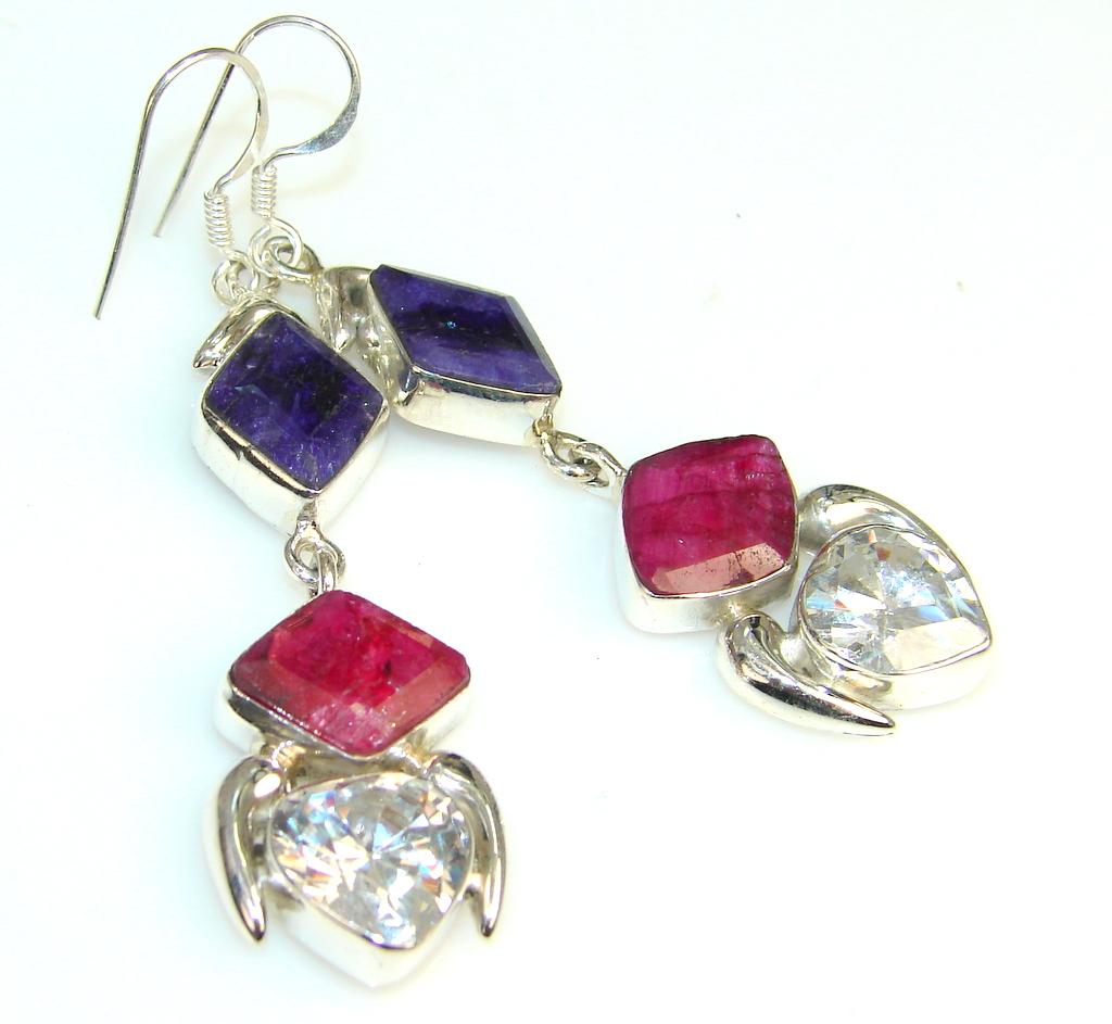 Fabulous White Topaz Sterling Silver earrings