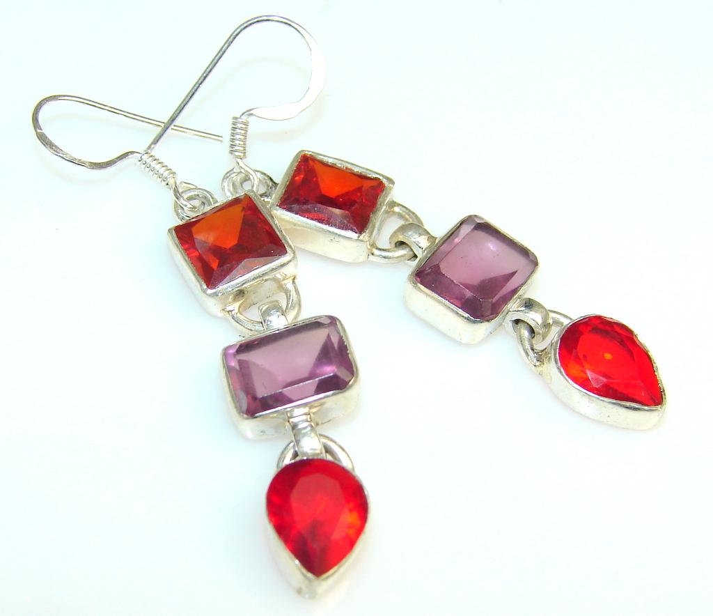 Island Fantasy Quartz Sterling Silver earrings