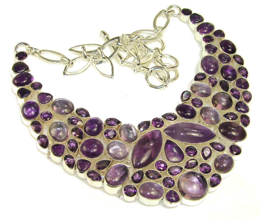 Let's Dance Amethyst Sterling Silver Necklace