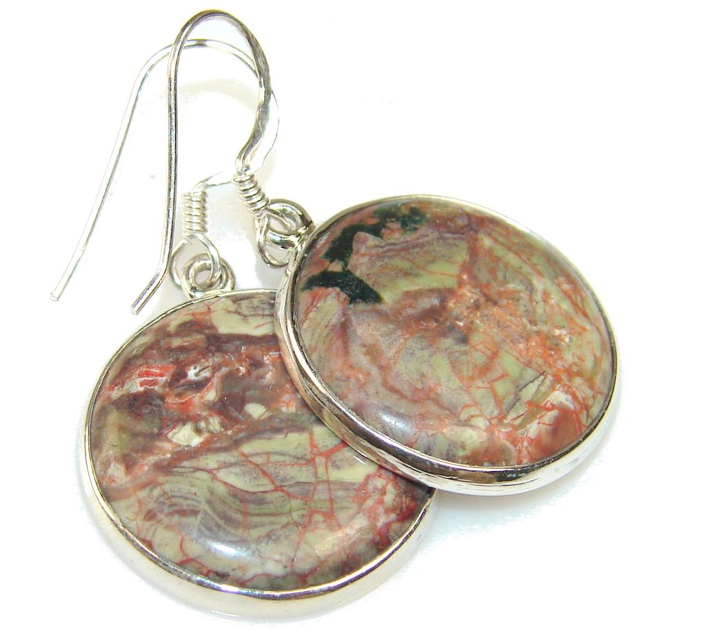 Fantastic Montana Agate Sterling Silver earrings