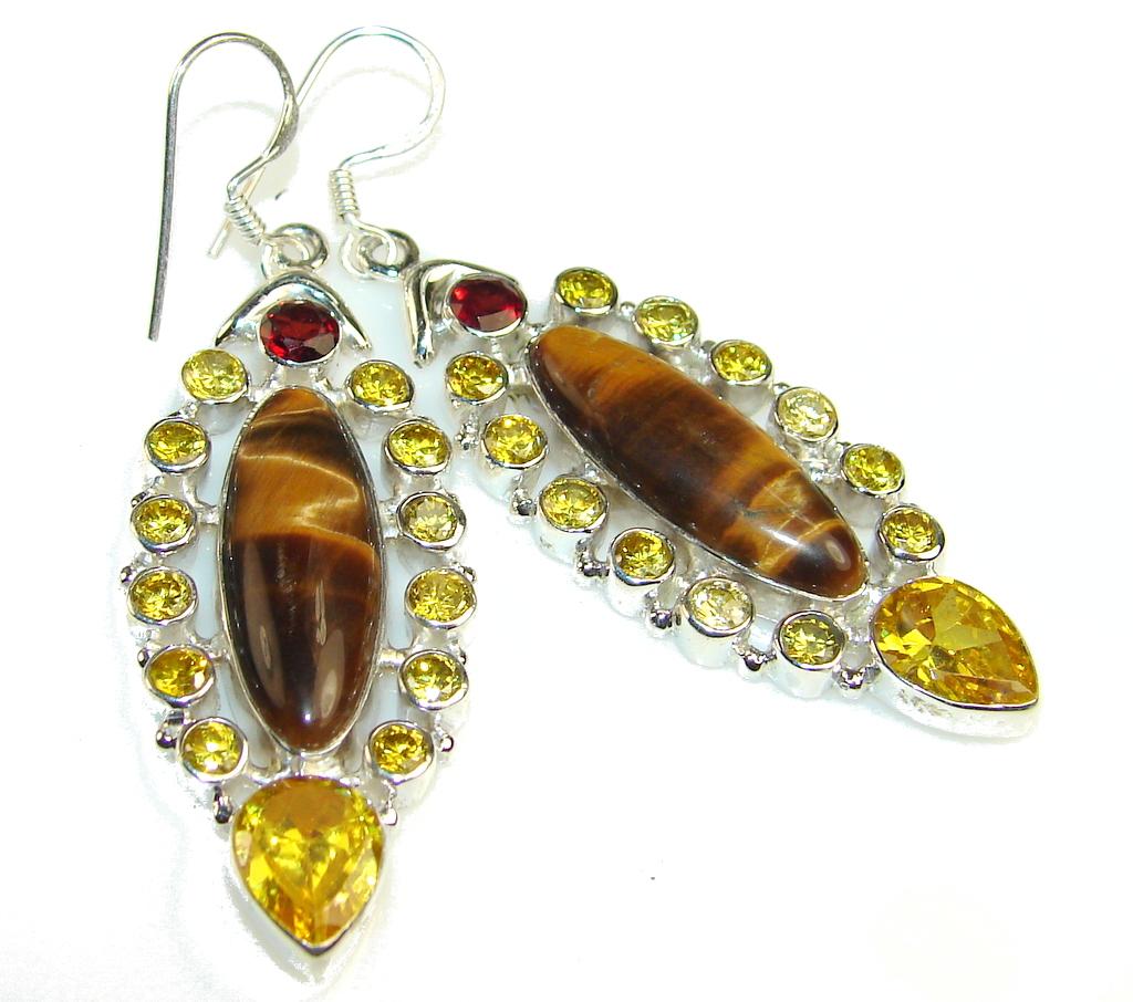 Empress Tigers Eye Sterling Silver earrings