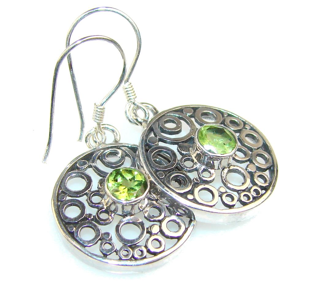 Fantastic Peridot Quartz Sterling Silver earrings