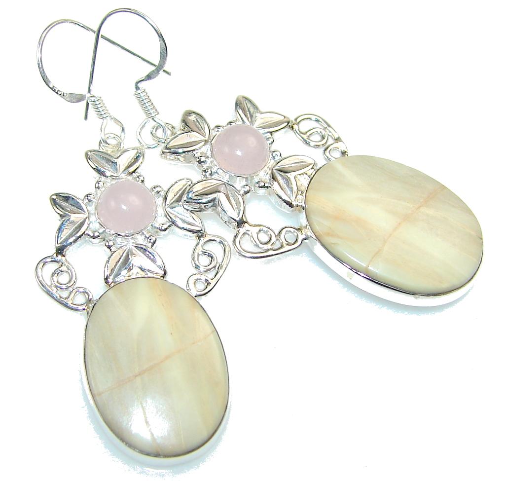 Amazing Wild Horse Jasper Sterling Silver earrings