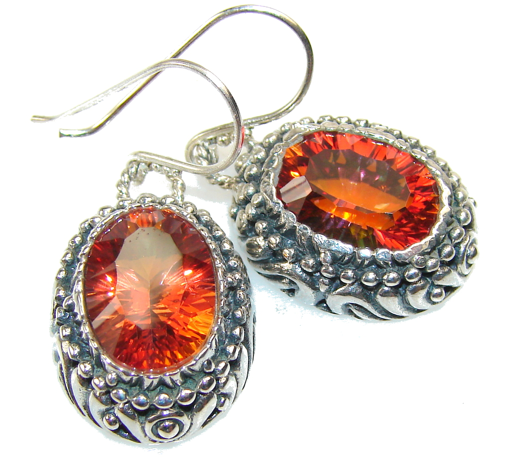 Excellent Color Changing Quartz Sterling Silver earrings