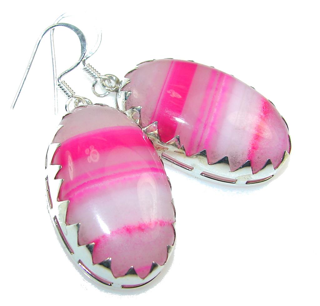 Sweet Queen!! Botswana Agate Sterling Silver earrings