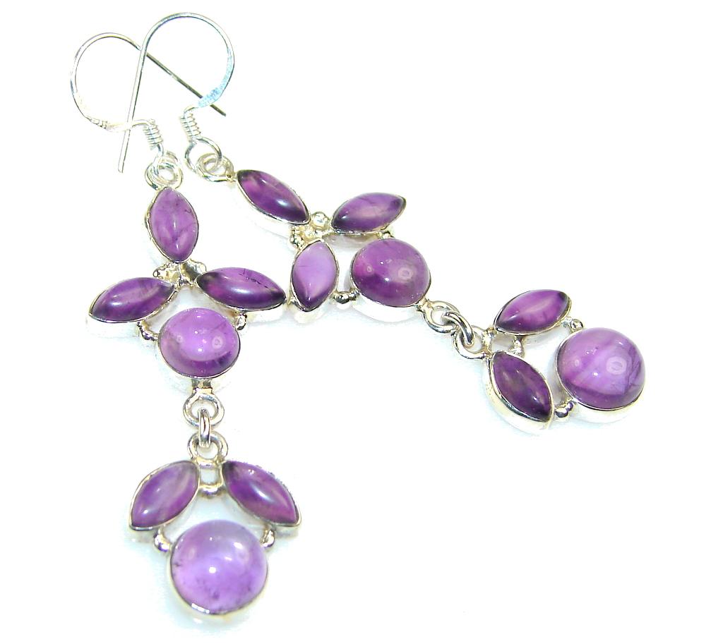 Gentle Purple Amethyst Sterling Silver earrings