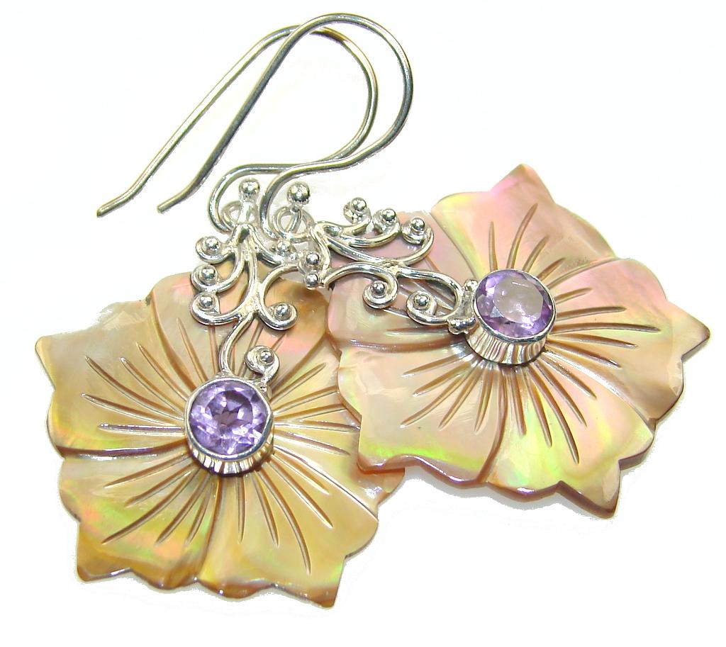 Beautiful Design!! Amethyst Sterling Silver Earrings