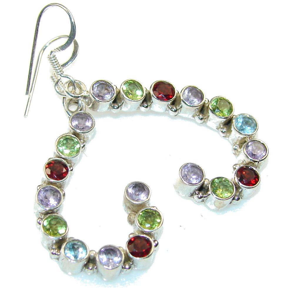 Fantastic Multigem Sterling Silver Earrings