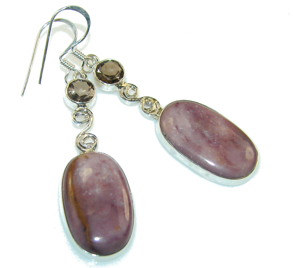 Awesome Purple Mookaite Sterling Silver Earrings