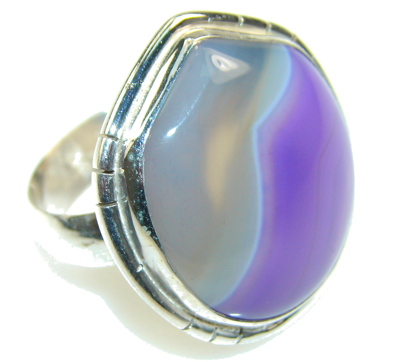 Awesome Design Of Purple Agate Sterling Silver Ring s. 11