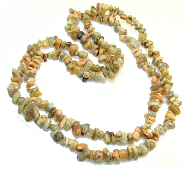 Rare Unusual Natural Montana Agate Beads Strand Necklace
